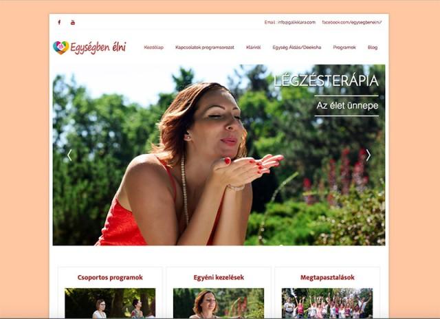 Új Joomla weboldal készítés Gálik Klára egység tréner részére