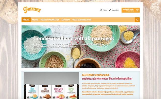 Új fejlesztésű Virtuemart webáruház a Glutenno termékek számára