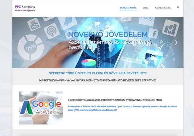 Új Joomla weboldal fejlesztés a PPC Kampány vállakozás számára