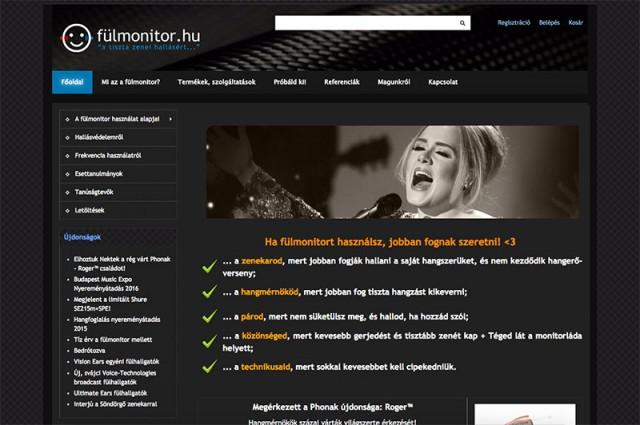 Joomla 1.5 és Aceshop webáruház felújítás a Fülmonitor vállalkozás részére