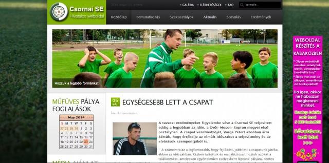 A Csornai Sportegyesület megújult weboldala