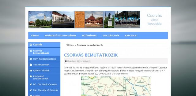 Weboldal megújítás a Csorvási Önkormányzat számára