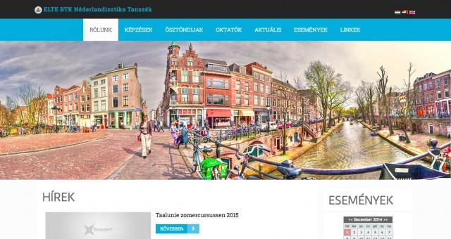 Weboldal felújítás az ELTE Néderlandisztika Tanszéke számára