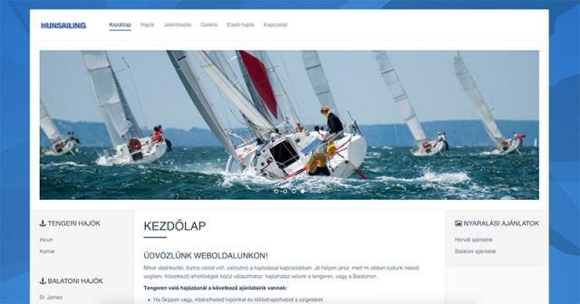 Weboldal megújítás a hunsailing.com hajós vállalkozás részére