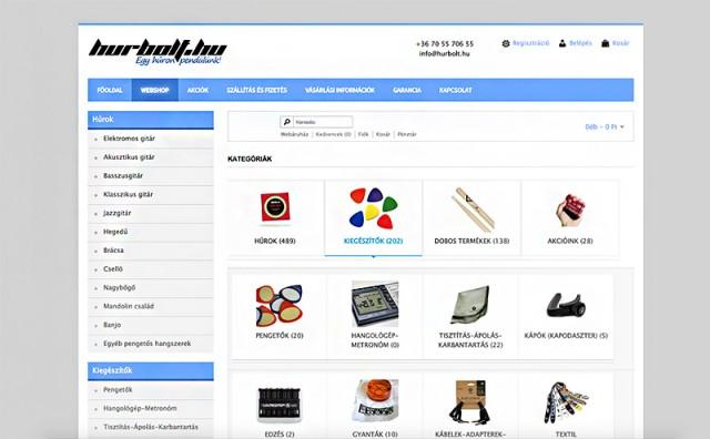 Weboldal és Virtuemart webshop frissítés a hurbolt.hu webáruház részére