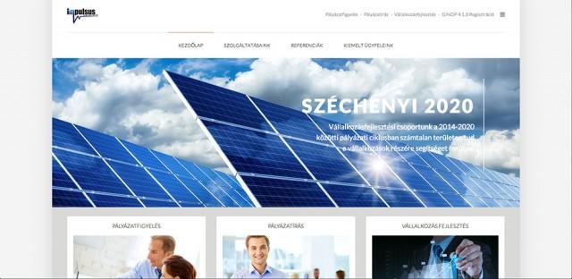 Weboldal készítés az Impulsus Kft. számára