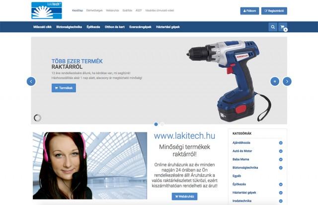 Virtuemart webáruház frissítés és felújítás a Lakitech Kft. részére