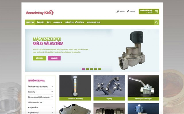 Joomla és Virtuemart webshop fejlesztés a Szerelvénykiss webáruház számára