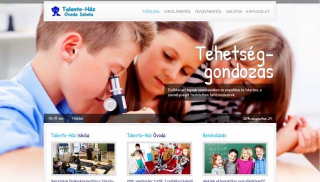 """Weboldal megújítás a """"Talento-Ház"""" Iskola számára"""