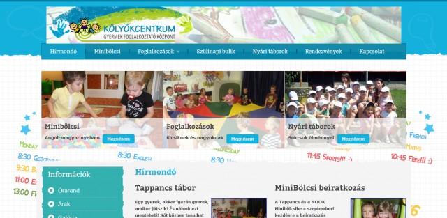 """Weboldal megújítás a """"Kölyökcentrum"""" minibölcsi számára"""