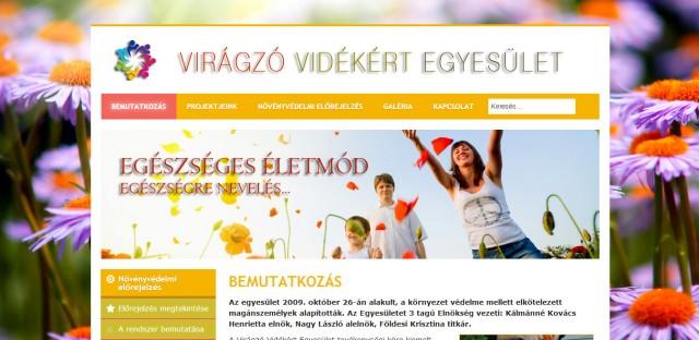 A Virágzó Vidékért Egyesület weboldala
