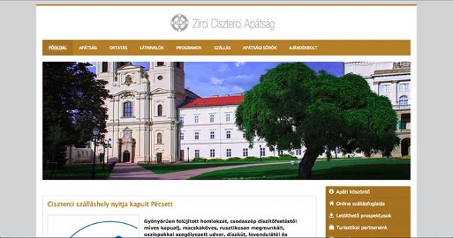 Weboldal megújítás a Zirci Ciszterci Apátság számára